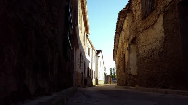 houses in castilla de la mancha timelapse sunset