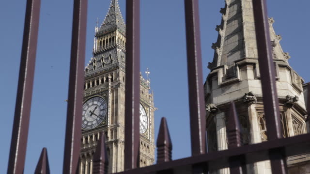 Houses of Parliament and Big Ben Clocktower, Westminster, London, England, UK