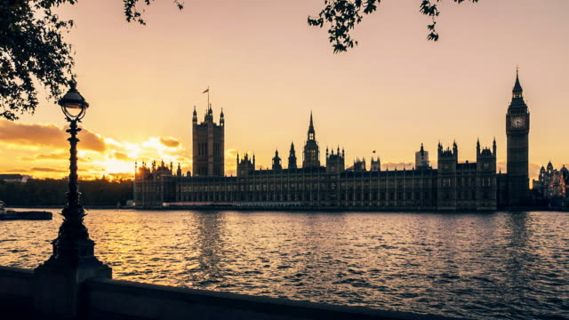Houses of Parliament at sunset, London, UK