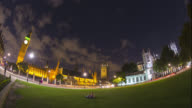 Houses of Parliament, Big Ben and Westminster Abbey at night.