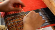 Housewife weave cotton cloth in Thailand