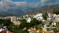 Housing development in the mediterranean coastal town.
