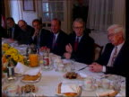 Housing market negative equity problem ENGLAND Lincolnshire MS John Major seated at a lunch with Lincolnshire business leaders talking BV Major...