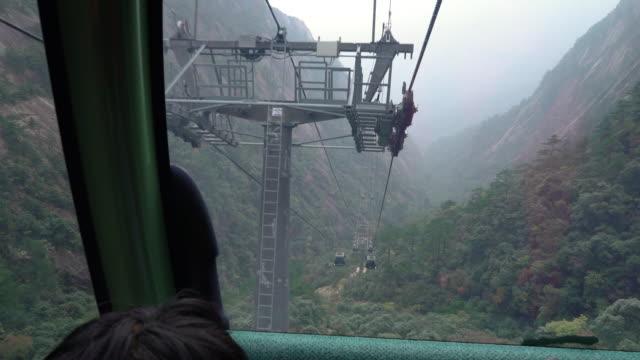 Huangshan gula bergen i Kina Cable car