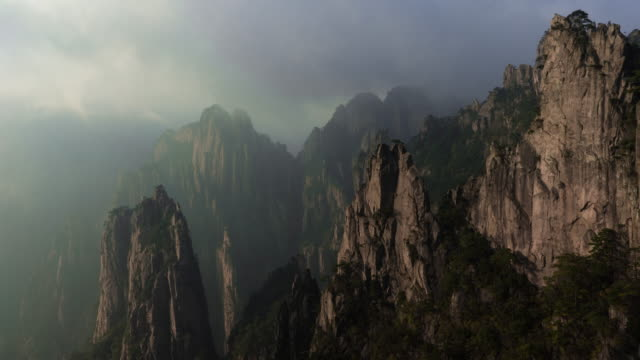 Huangshan Yellow Mountains of China Timelapse