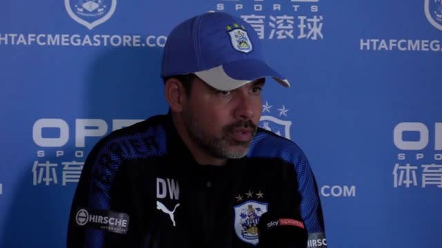 Huddersfield manager David Wagner give a press conference ahead of the team's match against Southampton