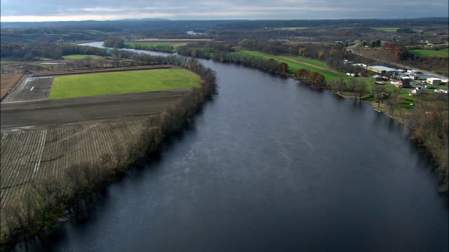 Hudson River - Aerial View - New York,  Saratoga County,  United States
