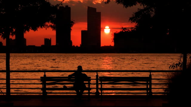 Hudson River Park Sunset Joggers