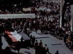 Huge crowds walk streets in mourning at President Abdel Nasser's funeral 1970