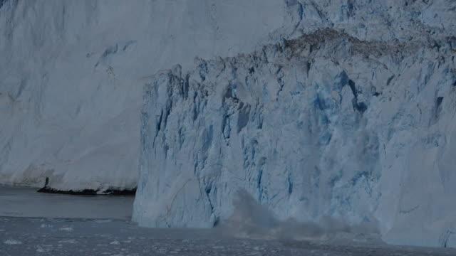 Huge glacier calving