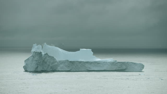 Huge Iceberg Floats On Disko Bay