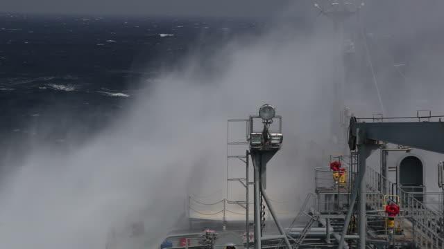 Huge wave. storm