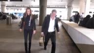 Hugh Grant Anna Elisabet Eberstein departing at LAX Airport in Los Angeles in Celebrity Sightings in Los Angeles