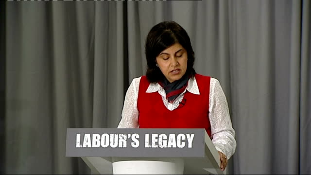 Huhne and Baroness Warsi attack Labour waste Baroness Sayeeda Warsi press conference SOT Thank you Chris for laying out the political challenge we...