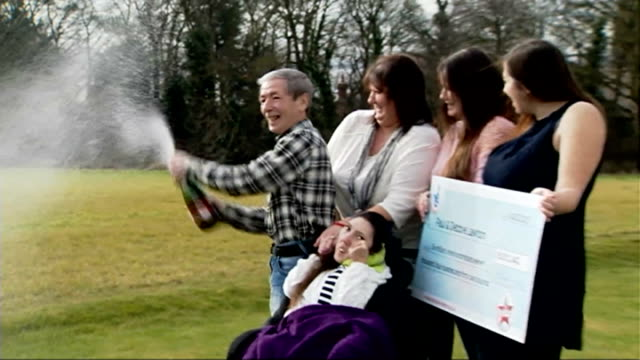 Hull couple celebrate National Lottery win ENGLAND East Yorkshire Withernsea EXT Various of National Lottery winners Paul Lawton and Deborah Lawton...