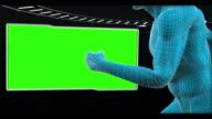 Human body running with chroma keys
