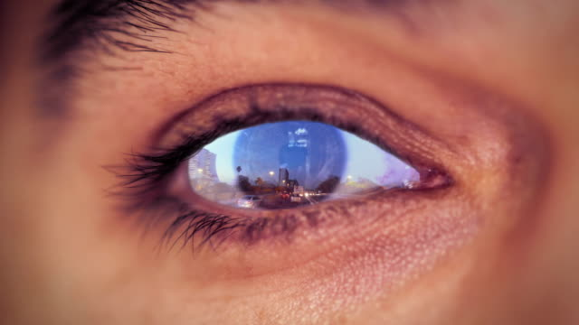 Human Eye Reflection Traffic