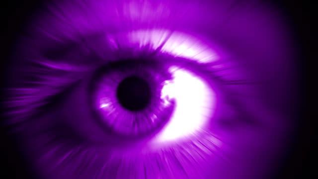 Menschliches Auge (Lila