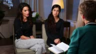 Human rights lawyer Amal Clooney speaks out about Yazidi genocide USA New York Nadia Murad as Clooney interviewed SOT Hard to hear about Nadia's...