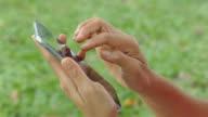 human using a smart phone