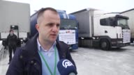 Humanitarian aid organized by Humanitarian Organization IFSEMMAUS including 120 tons flour is send to Syrian refugess on Januaary 26 2017 in...
