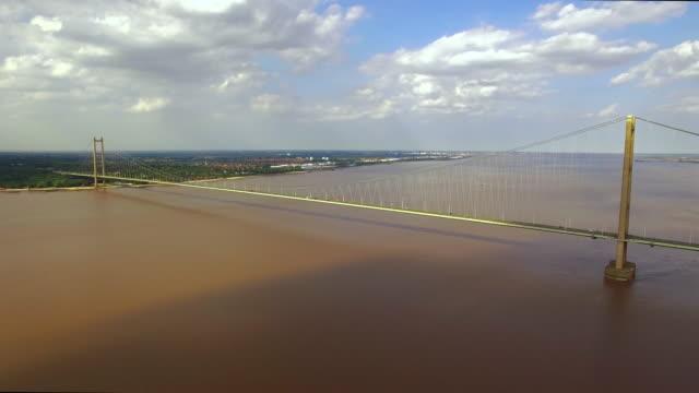 Humber Bridge Aerial Shot 4K