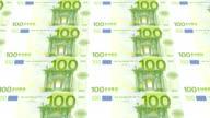 hundred euro bills printing - animation