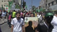 Hundred of Palestinians gathered in Hebron after the Friday prayer to protest against the Israeli intervention in Gaza that killed over 2000...
