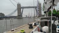 Hundreds of amateur sailors from around the world passed under Tower Bridge Sunday at the start of a 40000nautical mile global race between six...