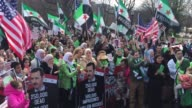 Hundreds of antiAssad Syrians gather in front of the White House in the US capital Washington DC and vow to stand against Assad regime until Syria is...
