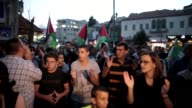 Hundreds of Arab Israelis demonstrated in Nazareth on Thursday in support of Palestinian people