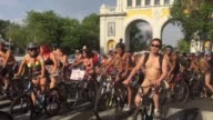 Hundreds of cyclists have ridden Saturday through Guadalajara 500 km from Mexico for the World Naked Bike Ride to protest against gas emissions from...