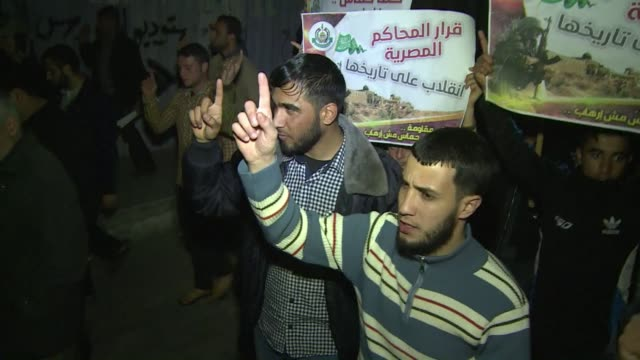 Hundreds of Hamas supporters demonstrated in the Gaza Strip on Saturday night to protest against an Egyptian court ruling that branded the...