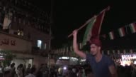 Hundreds of Iraqi Kurds celebrate a historic independence referendum in the capital Arbil on Monday once polls closed by dancing on the streets and...