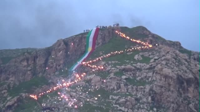 Hundreds of Iraqi Kurds celebrated the Iranien new year Nowruz in the small town of Aqra near Dohuk in the Iraqi autonomous Kurdistan
