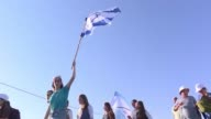 Hundreds of Israeli settlers marched between the Palestinian village of Tarama and the Israeli settlement of Otniel demanding more security for...