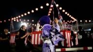Hundreds of Japanese and locals dance in Kimono in Shah Alam Malaysia to celebrate Bon Odori festival