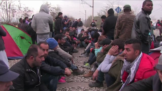 Hundreds of migrants are stuck at the Greece Macedonia border after new restrictions were imposed limiting passage to those fleeing conflict zones