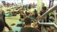 Hundreds of migrants gathered outside Budapests Keleti train station Tuesday morning after police stopped them from entering the station and boarding...