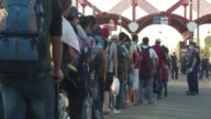 Hundreds of migrants were crossing the border from Croatia to Hungary on Tuesday evening as the authorities in Budapest said it's only a matter of...
