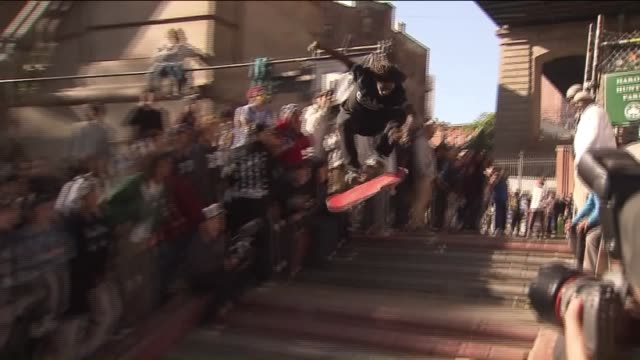 Hundreds of New York City's tightknit skateboarding community gathered under the Manhattan Bridge to remember Harold Hunter perhaps the most famous...