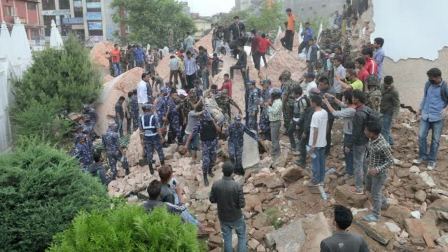 Hundreds of people are feared killed in Nepal after a massive 79 magnitude earthquake ripped through large parts of the country toppling office...