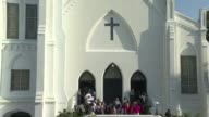 Hundreds of people attended the Sunday service at the black church in Charleston where nine African Americans were gunned down as a chilling website...