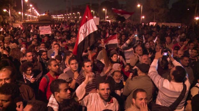 Hundreds of protesters demonstrated in front of the Cairo palace of Islamist President Mohamed Morsi late on Tuesday in a last ditch bid to scuttle a...