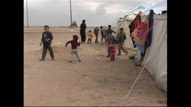 Hundreds of Ramadi residents took shelter in a camp near the city after it was taken back from the Islamic State group by the Iraqi army