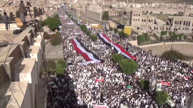 Hundreds of rebels take to the streets of Sanaa over claims that Saudi Arabia home to Islams holiest sites and host to the hajj is denying Yemenis...