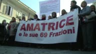 Hundreds of residents from central Italy gather in Rome to protest against what they feel is a poor government response to the series of deadly...