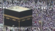Hundreds of thousands of hajj pilgrims perform the farewell circling of the Kaaba as the final ritual during the annual Islamic pilgrimage in Mecca