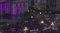 Hundreds of thousands of people took to the streets across Argentina on Wednesday to condemn violence against women after a series of brutal murders