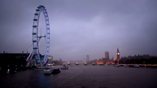 Hungerford Bridge Dusk Panorama, London